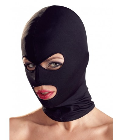 Black Full Face 3 Hole Mask