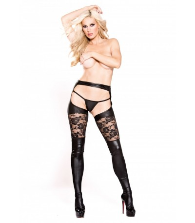 Wetlook Garter Tights