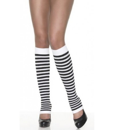 Nylon Striped Leg Warmers.