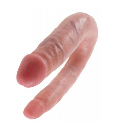 King Cock U-Shaped Small Double Trouble-Flesh