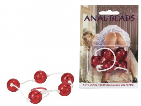 Clear Anal Beads-Large