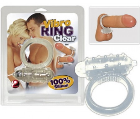 Soft Silicone Cock Ring-Clear