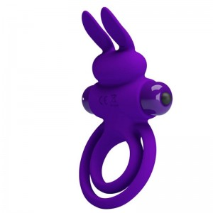Vibrating Silicone Penis Ring 10 functions of Vibration-Purple2