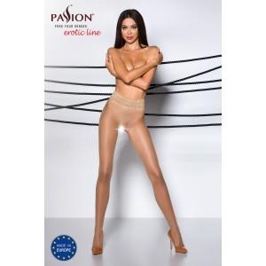 Suspender Fishnet Garter Belt Stockings-Beige
