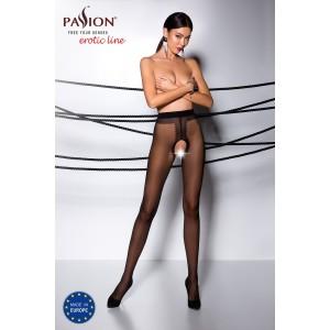 Open crotch Pantyhose Black TI007