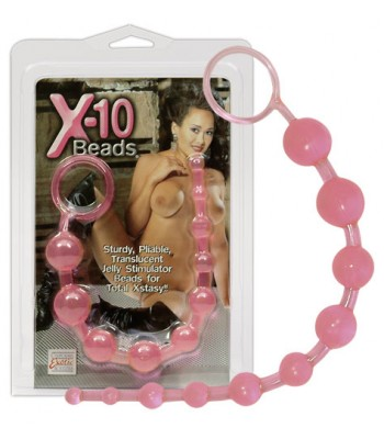 X-10 BEADS-PINK