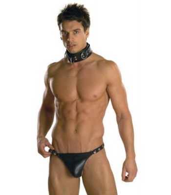 Men's Jock String-Leather