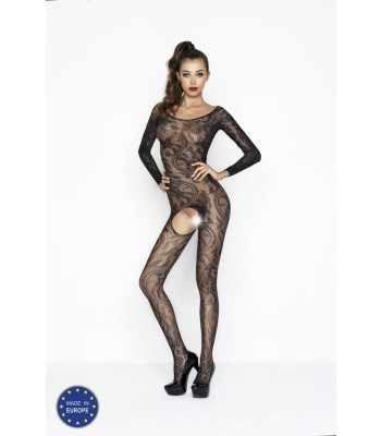 Lace Long Sleeve Bodystocking-BS042