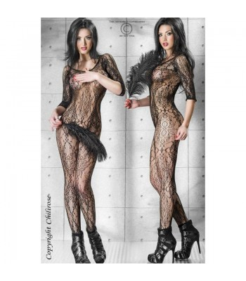 CR 3234 S/M Bodystocking All Flowers