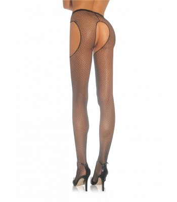 Industrial Fishnet Crotchless Pantyhose O/S