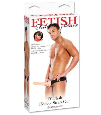 "FF 10"" Hollow Strap-on Flesh"