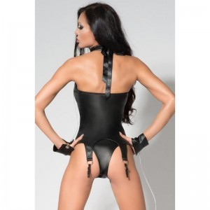 Catty Corset with Handcuffs