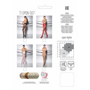 Open crotch Pantyhose Beige TI007