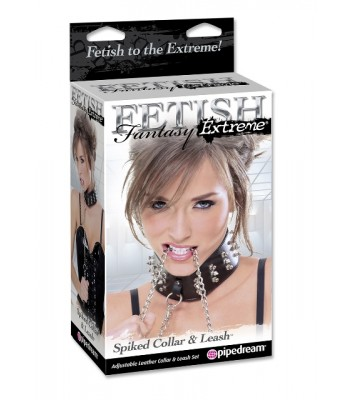 Ff Spiked Collar W Leash