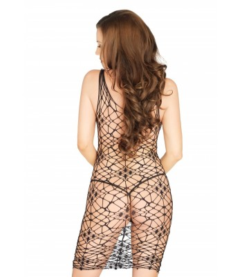 Bordeaux Net Bodycon Dress