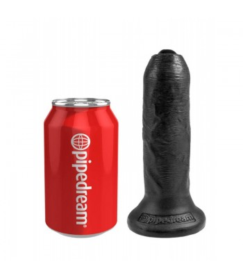 "King Cock 6"" Uncut Cock-Black"