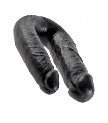 King Cock U-Shaped Medium Double Trouble-Black