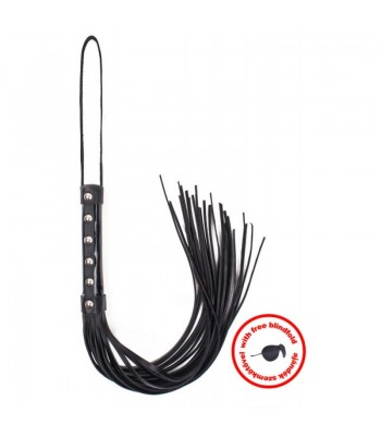Whip Black Laquer with Blindfold