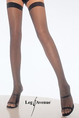 Nylon Fishnet Thigh Highs.