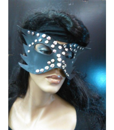 Black Faux Leather Mask