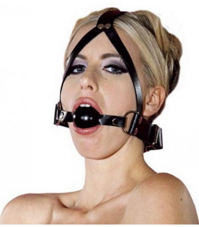 BAL GAG HEAD HARNESS ONE SIZE-LEATHER
