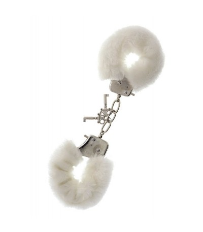 Metal Handcuff with Plush White