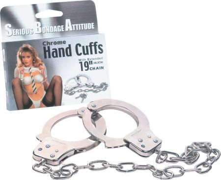 """Chrome Hand Cuffs-19"""""""