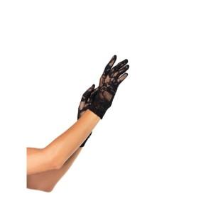 Wrist Length Stretch Lace Gloves