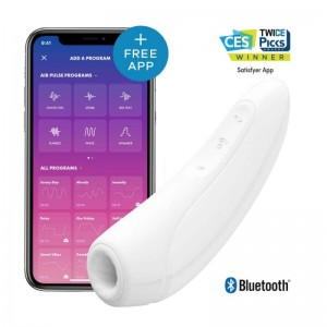 Curvy 1+ (White) Rechargeable App Controlled Long Distance Vibe