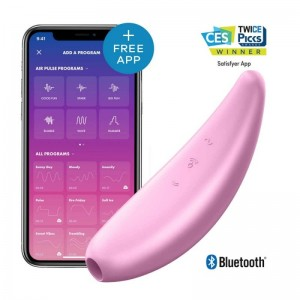 Satisfyer Curvy 3+Rechargeable App Controlled Long Distance Vibe,Pink