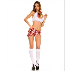 Sexy Top And Skirt Schoolgirl Set