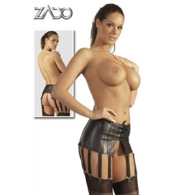 Leather Big Suspender Belt