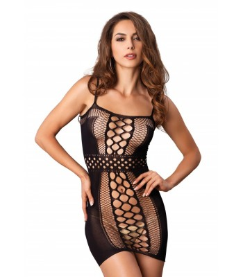 Seamless Multi Net Mini Dress