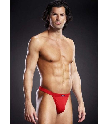 Blue Line Performance Microfiber Thong Red