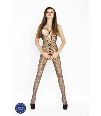 Fishnet Open Chest Bodystocking-BS014