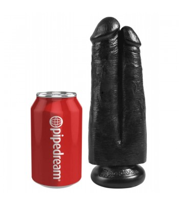 """King Cock 7"""" Two Cocks One Hole Black"""