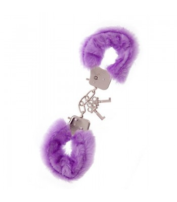 Metal Handcuff with Plush Lavender