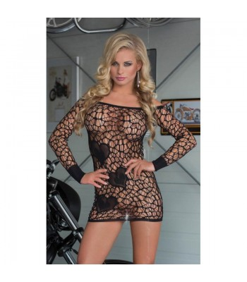 Sweetheart Mini Dress- Black S-L