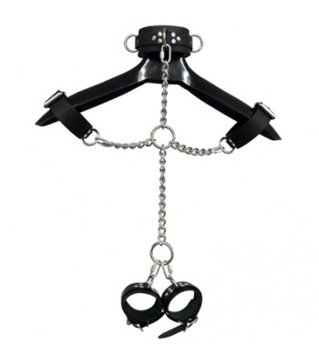 Faux leather Bondage Set with Collar