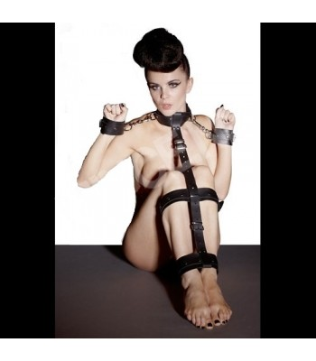 Faux leather Bondage Set
