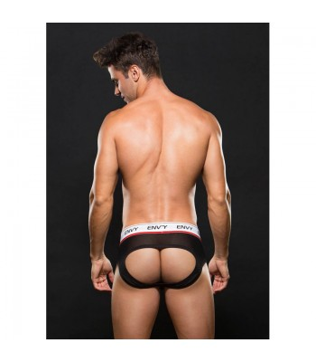 Logo Elastic LowRise Mesh Brief Black