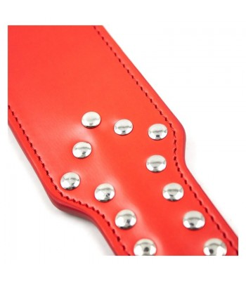 Studded Faux Leather Spanking Paddle – Red